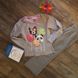 Justice pants and sweatshirt size 7  bundle